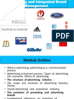 Advertisement and Integrated Brand Management Module 1