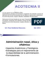 Administracion nasal, oftalmico y otico Clase 2014.pptx