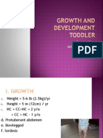 growth and development of toddler