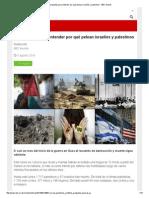 10 Preguntas Para Entender Por Qué Pelean Israelíes y Palestinos - BBC Mundo