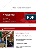Ohio State Admissions PowerPoint