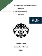 Perkembangan Dan Prospek Industri Besi Baja Di Indonesia