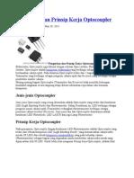 Pengertian Dan Prinsip Kerja Optocoupler