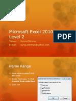 Excel 2010 Intermediate