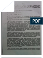 Draft Political Agreement on Climate