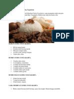 Resep Untuk Membuat Gudeg Yogyakarta