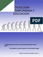 SOCIOLOGÍA CONTEMPORANEA Y EDUCACIÓN.ppt