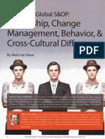 Leadership, Change, Management Behavior and Cultural Differences