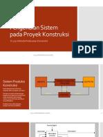 Modul 1 Pengenalan Sistem Pada Proyek Konstruksi