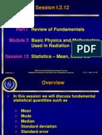 Session I212 Standard Deviation