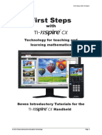 First Steps With TI-Nspire CX