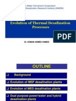 Evolution of Thermal Desalination Processes