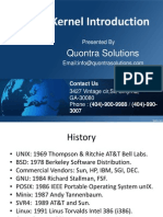 Introduction to Linux Kernel by Quontra Solutions