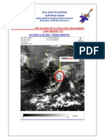 SATELLITE BULLETIN BASED ON SATELLITE IMAGERIES AND PRODUCTS