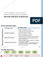Resume Writing Guidelines