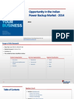 Opportunity in the Indian Power Backup Market_Feedback OTS_2014