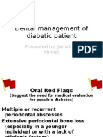 Dental Management of Diabetic Patient