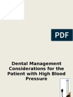 Dental Management Considerations for the Patient With High Blood Pressure