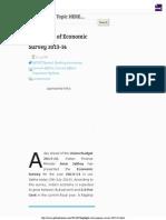 Highlights of Economic Survey 2013-14 Gr8ambitionz