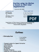 Speech Extraction Using Lip Motion Detection Based on Skin Color Segmentation