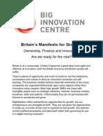 Britain's Manifesto for Growth 2014