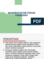 MENEMUKAN IDE POKOK PARAGRAF.ppt