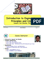 Introduction engineering principle and units
