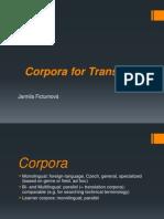 Corpora for Translators