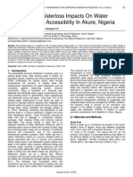 Calibration of Waterloss Impacts on Water Distribution and Accessibility in Akure Nigeria