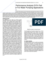 Investigation of Performance Analysis of Pv Fed Multilevel Inverter for Water Pumping Applications