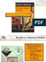 Mercury Cleanup, lab mercury