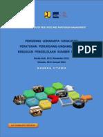 Prosiding Lokakarya Sosialiasasi Peraturan Perundang-undangan dan Kebijakan Pengelolaan Sumber Daya Air