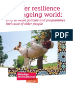 Disaster resilience in an ageing world