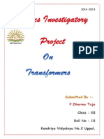 Project on Transformers Class XII