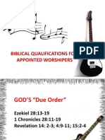 Biblical Qualification of Appointed Worshipers