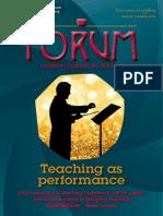 Teaching as performance - UoY Forum 36, Autumn 2014