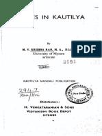 Studies in Kautilya