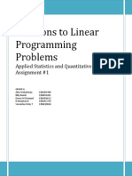 Solutions to Linear Programming Problems