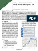 Assessment of Water Quality of Hatirjheel Lake in Dhaka City
