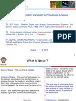 Random Varaibles Processes and Noise Aug 11 - 18, 2014