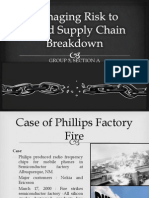 Managing Risk to Avoid Supply Chain Breakdown