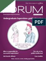 Undergraduate Supervision