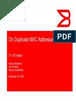 On Duplicate MAC Addresses