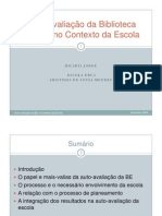 Power point  - apresentação do modelo Auto avaliação no Conselho Pedagógico