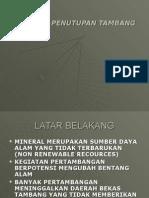 Rencana Penutupan Tambang-2009-1r.ppt
