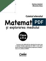 Caiet de Matematica Clasa a II-A