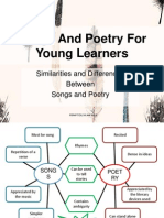 Similarities and Differences  Between Songs and Poetry