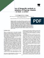 Metode Biospesifik Penentuan Asam Pantotenat,Biotin, Folat, Vit B6 Dan B12
