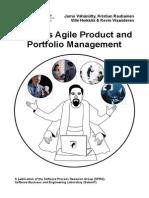 Towards Agile Product and Portfolio Management