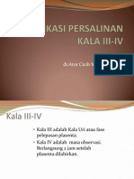 Komplikasi Persalinan Kala III-IV